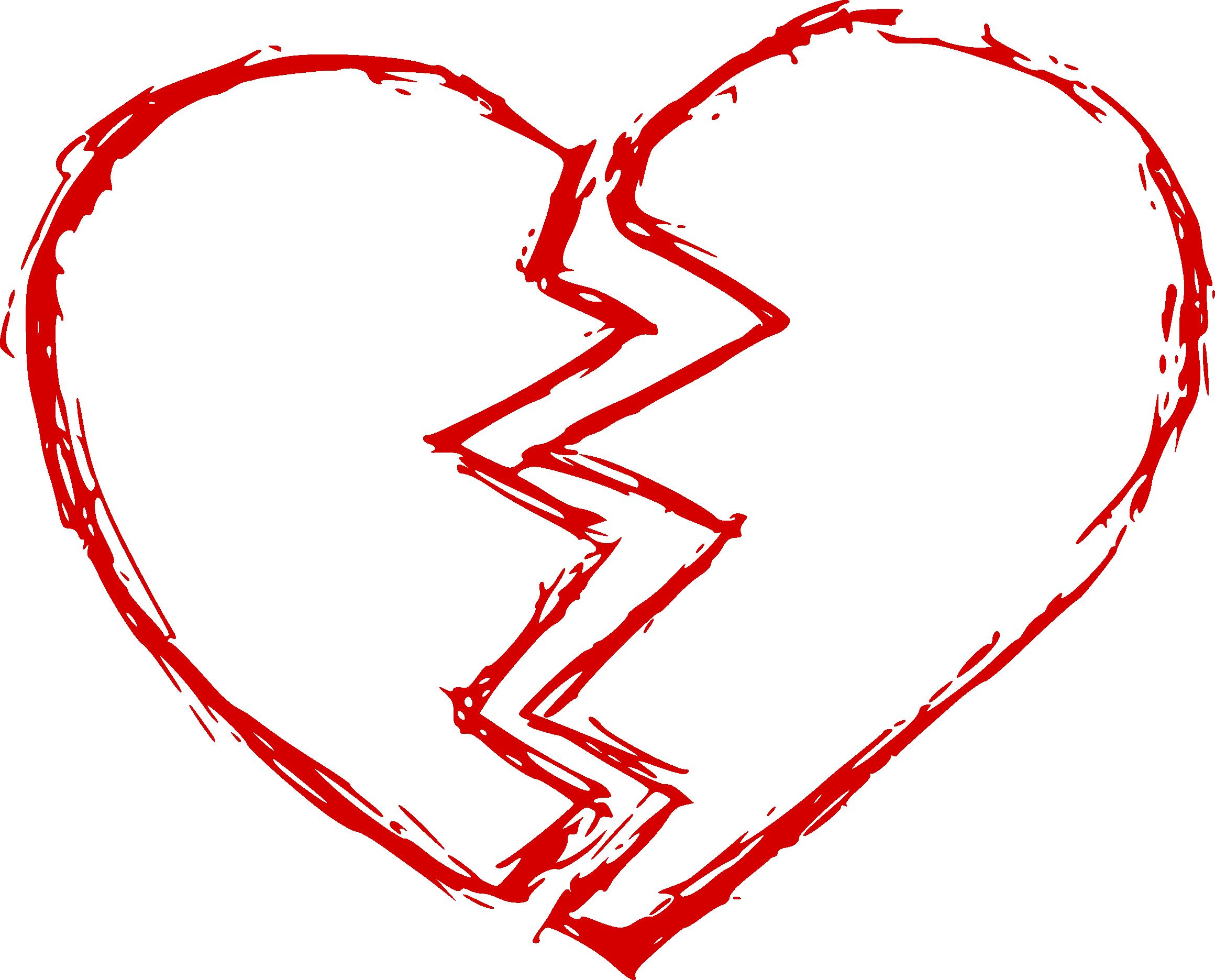 Broken Heart PNG Clipart #45699.