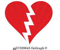 Broken Heart Clip Art.