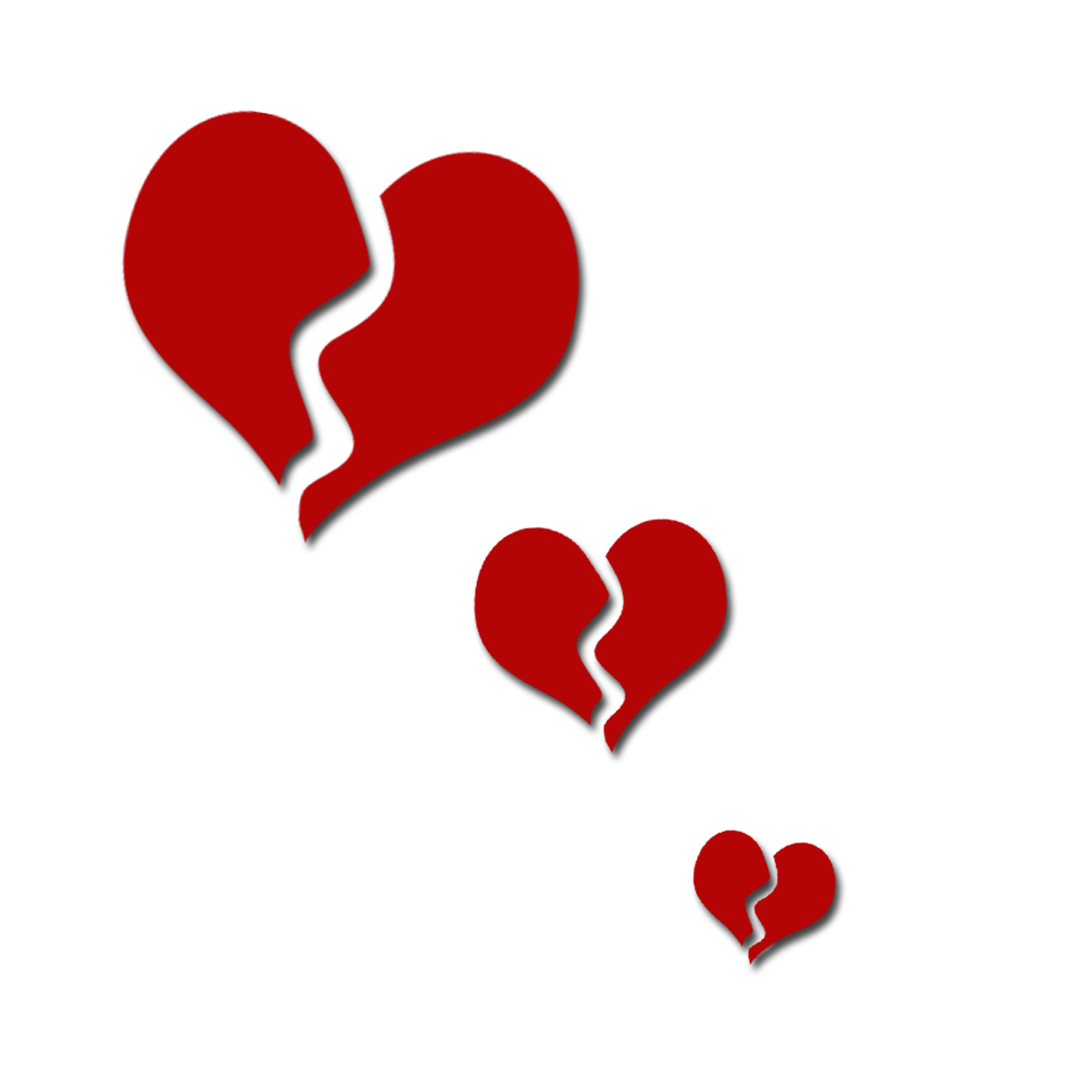 Broken heart clipart.