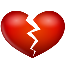 Broken Heart Clipart Black And White.