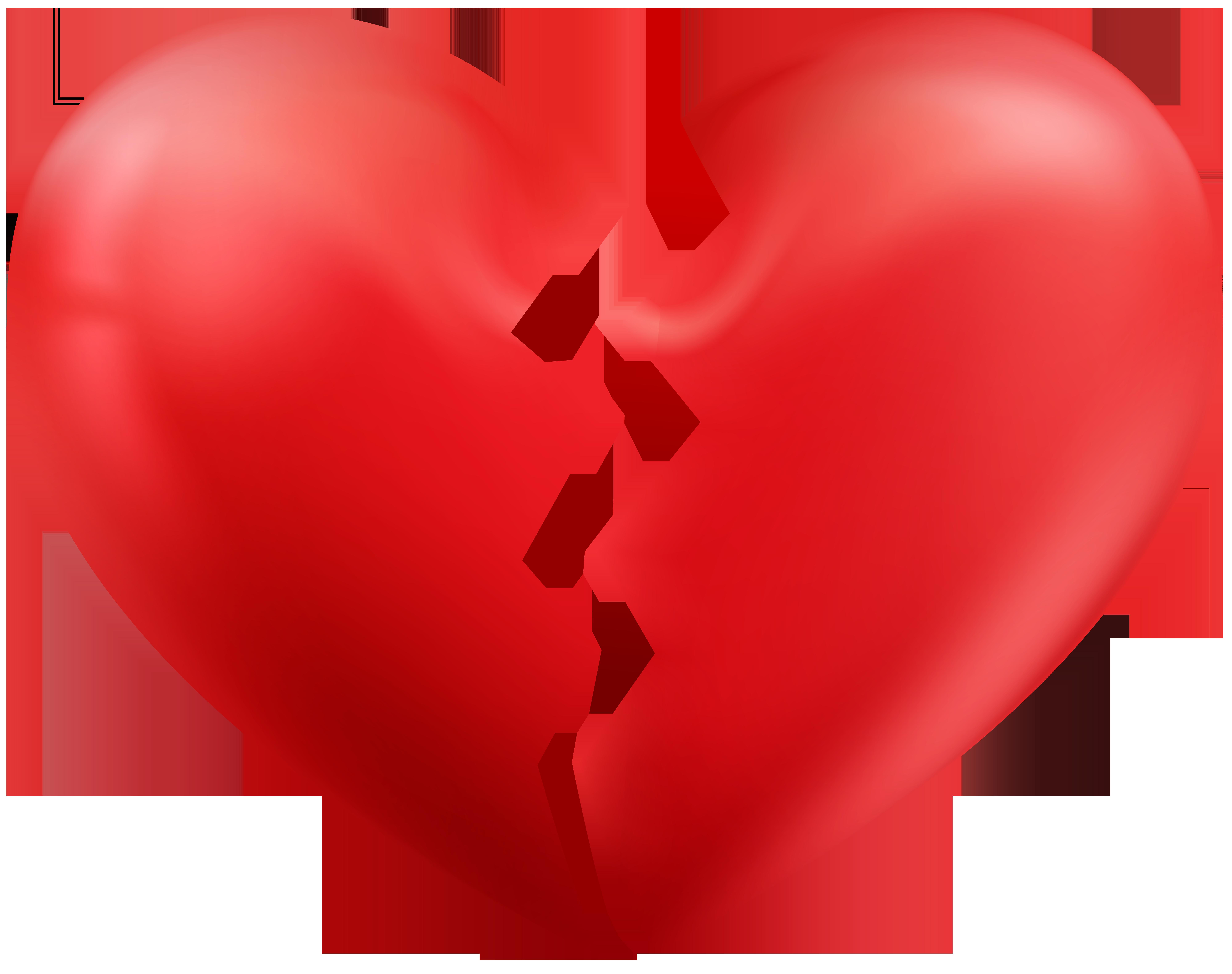 Broken Heart Transparent PNG Clip Art Image.