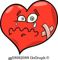 Broken Heart Clip Art.