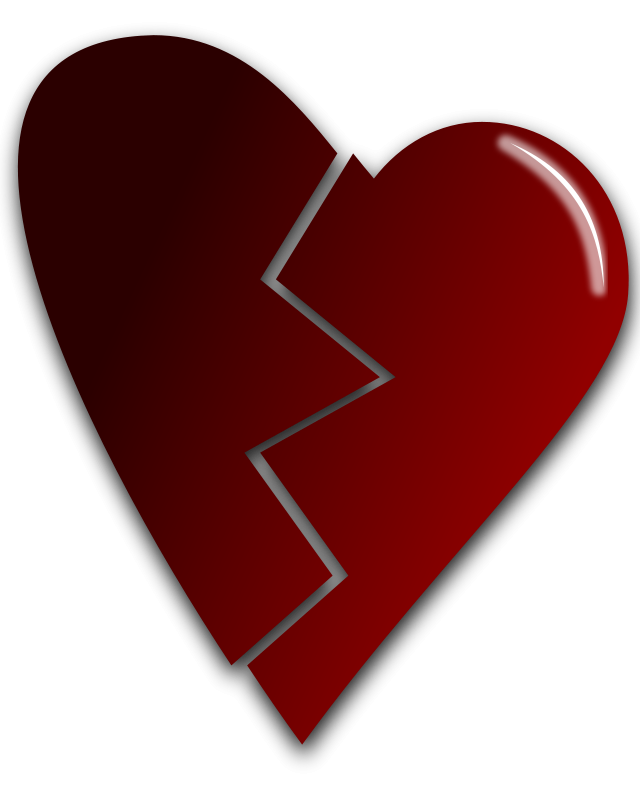 Free Clipart: Broken heart.
