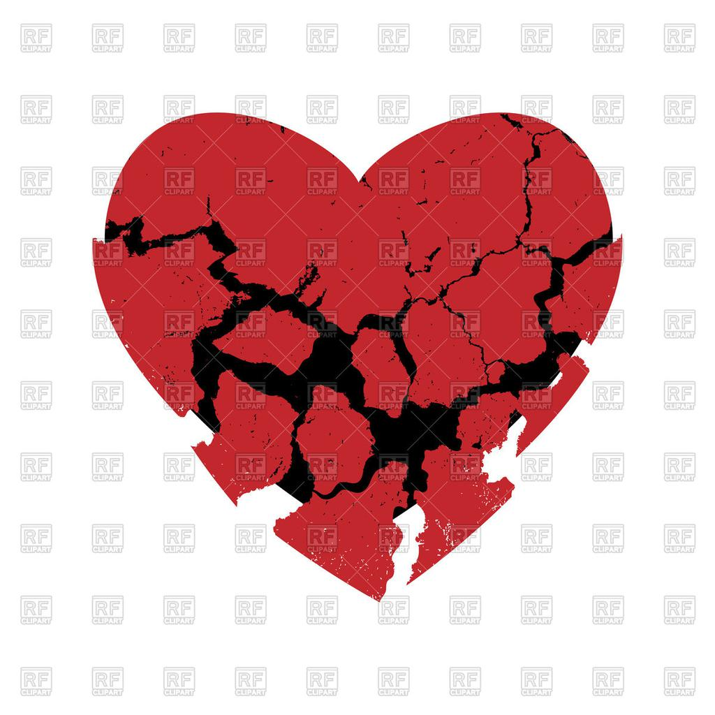 Free Broken Heart Clipart Vector Eps Royalty.