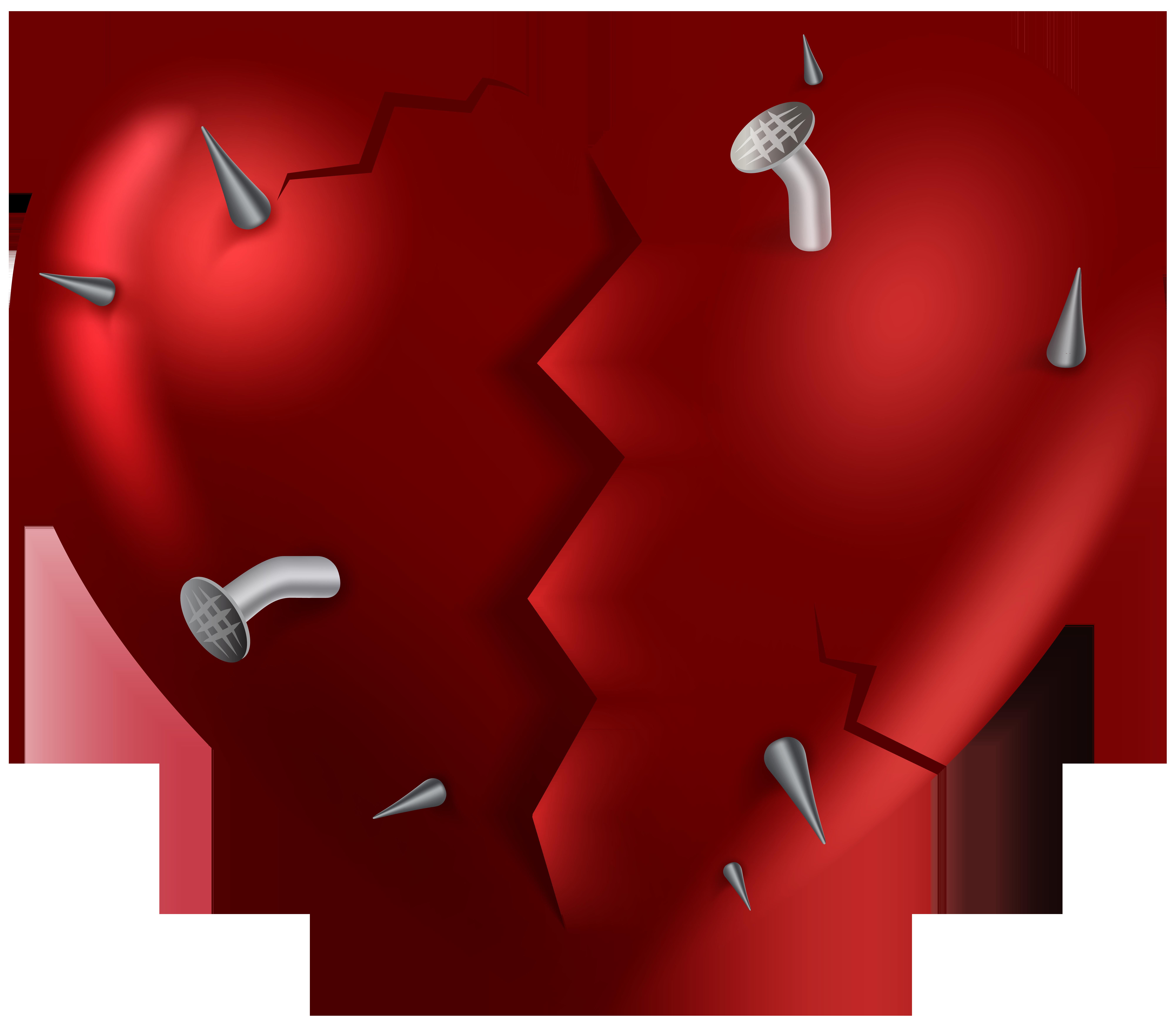 Broken Heart PNG Clip Art Image.