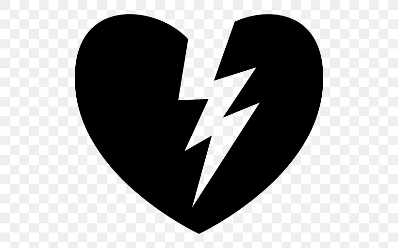Broken Heart Shape, PNG, 512x512px, Heart, Black And White.