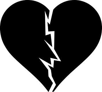 Amazon.com: BROKEN HEART LOGO STICKERS SYMBOL 5.5.