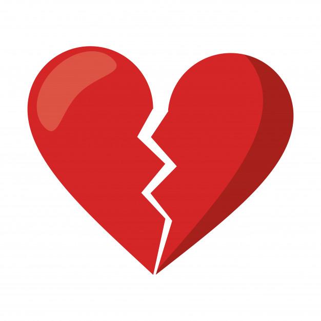 Love broken heart symbol Vector.