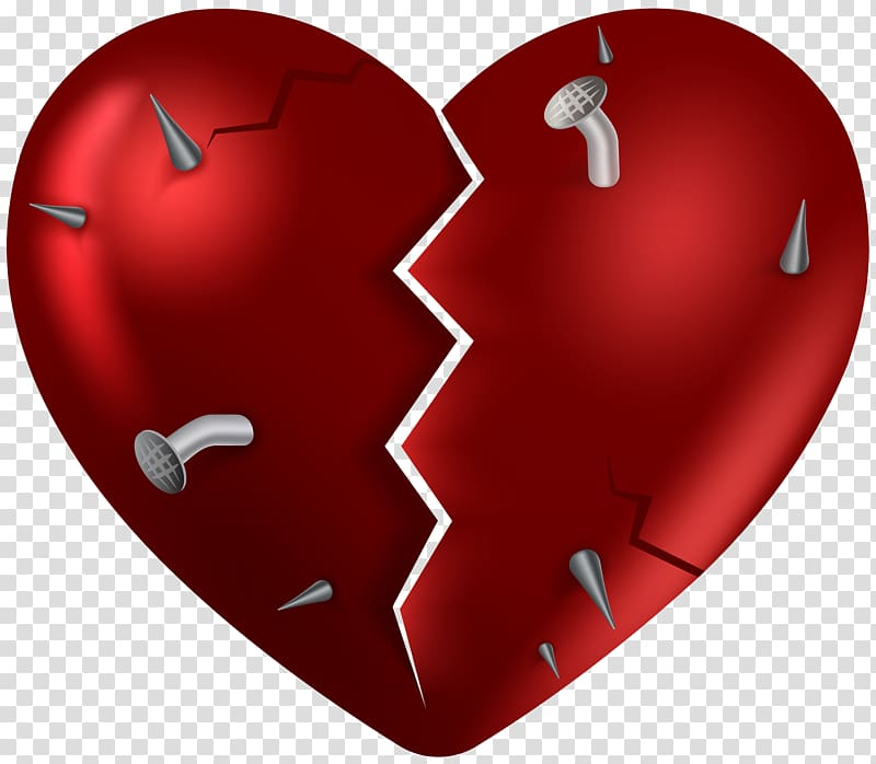 Broken heart , Broken heart , Broken Heart transparent background.