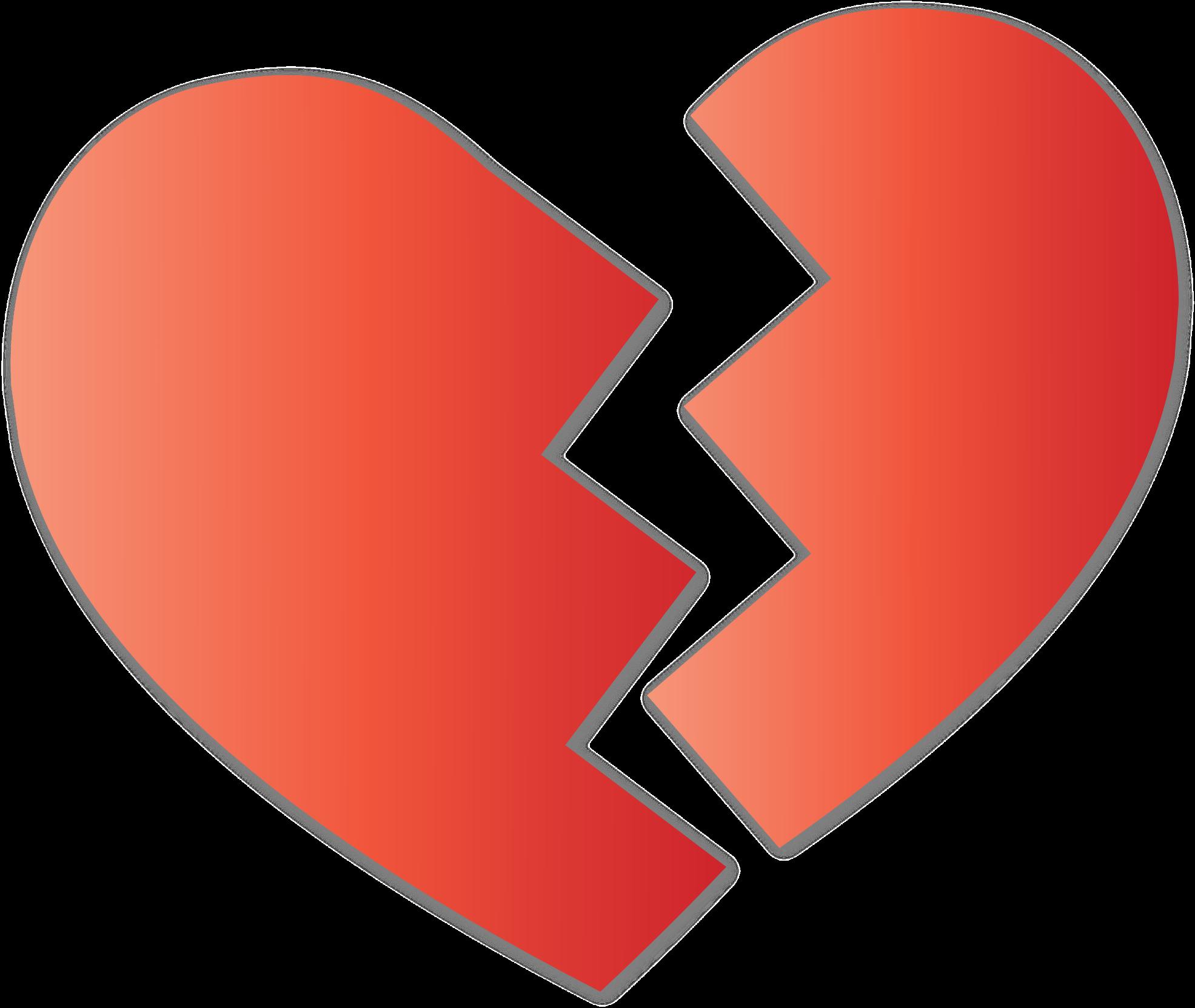 Broken Heart Vector Clipart image.