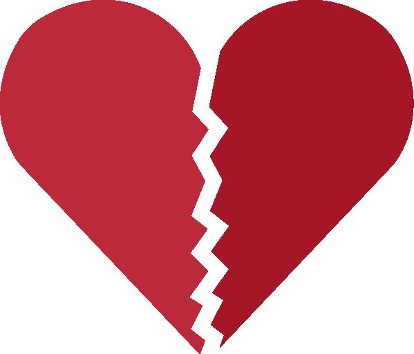 Broken Heart PNG Image.