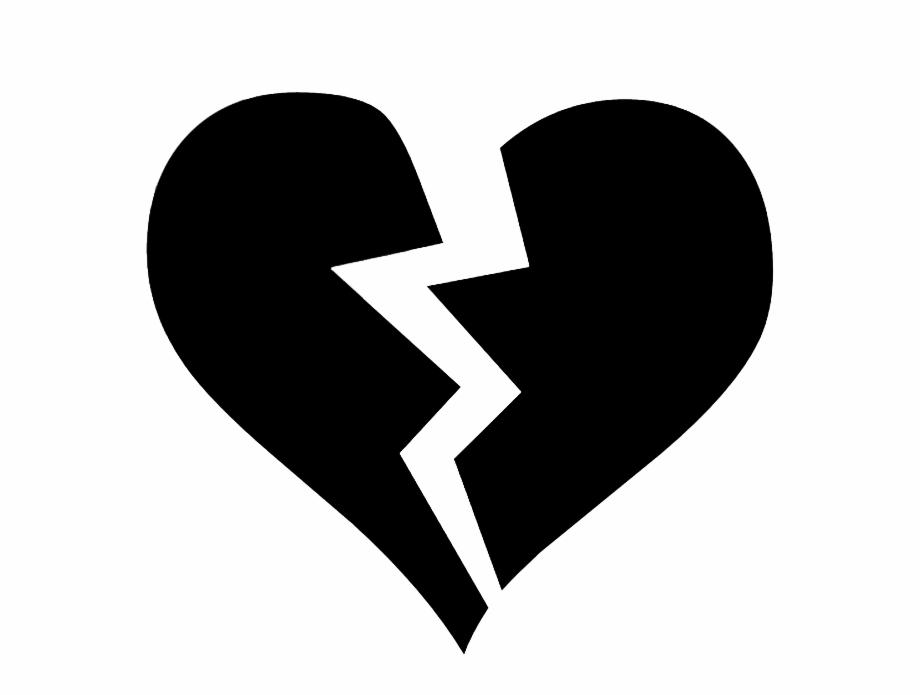 Black Broken Heart Symbol.