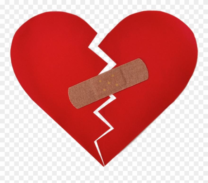 Broken Heart With Bandaid.