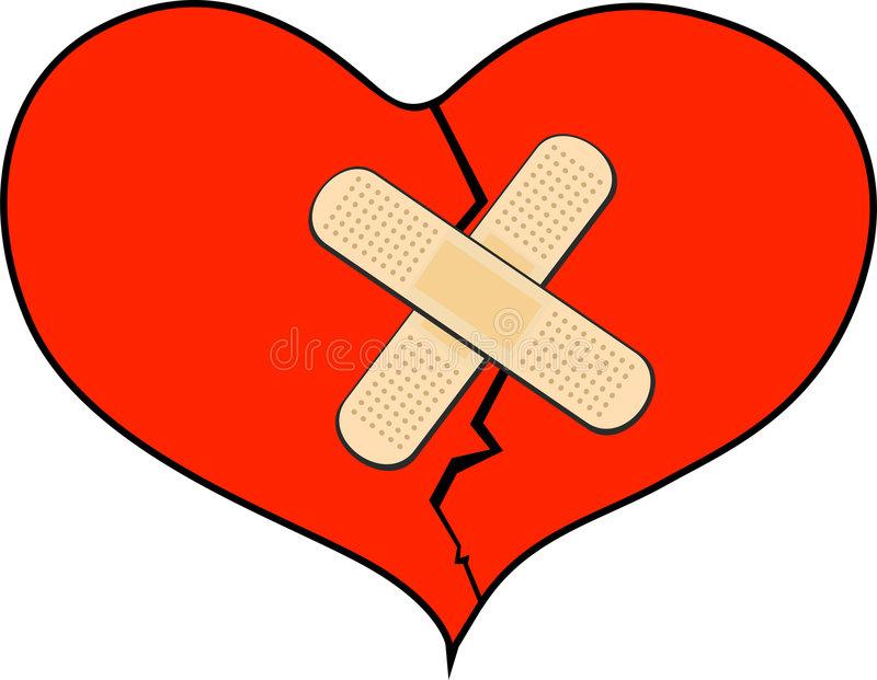 Bandage Heart Stock Illustrations.