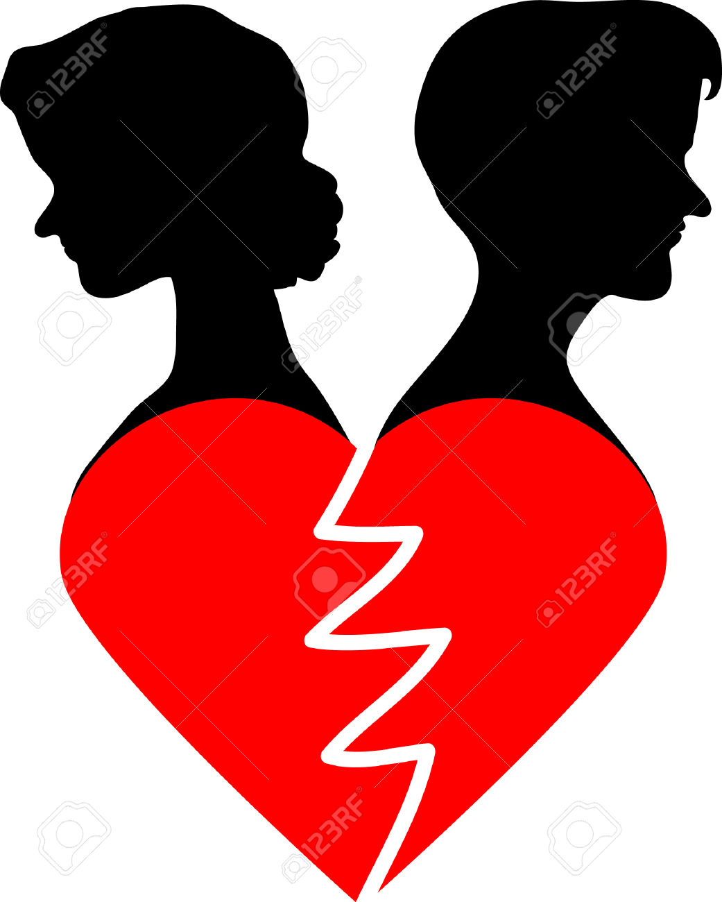 Broken hearted clipart 2 » Clipart Station.