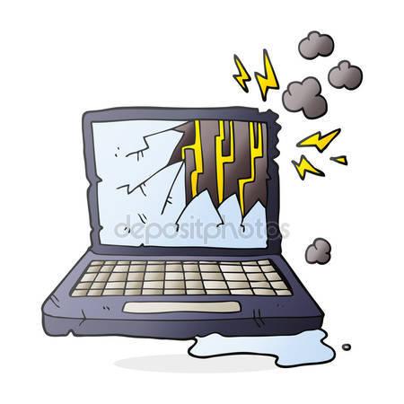Broken cartoon laptop computer Stock Vectors, Royalty Free Broken.