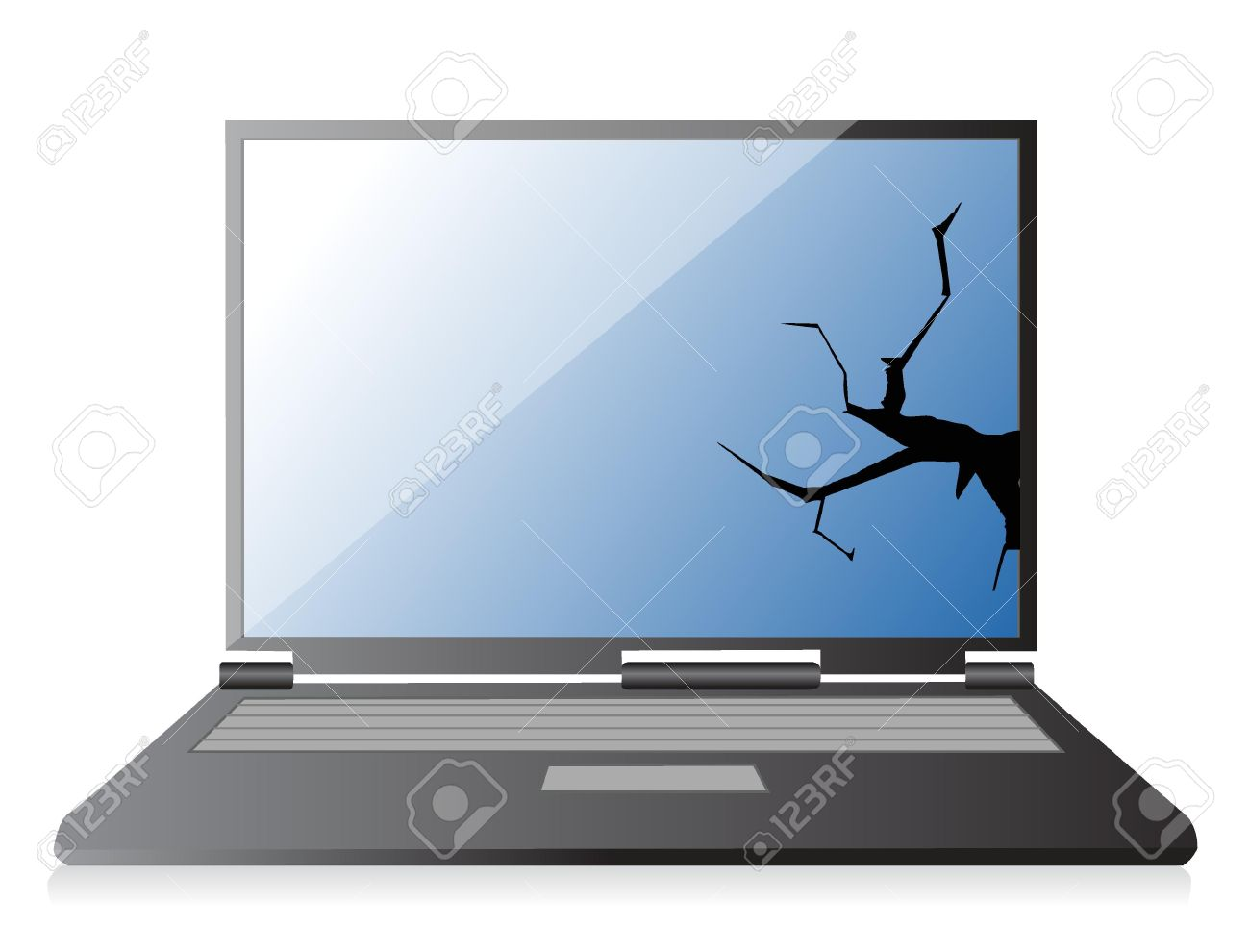 1,386 Broken Laptop Stock Illustrations, Cliparts And Royalty Free.