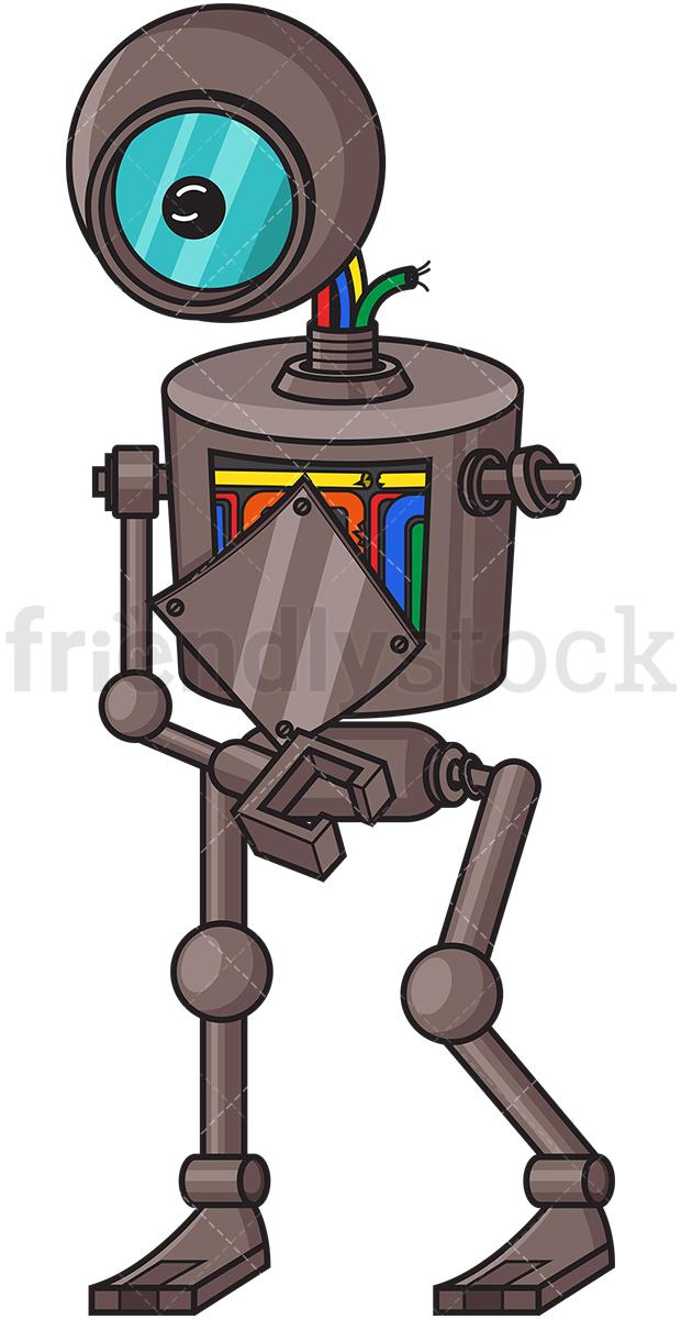 Broken Down Robot.