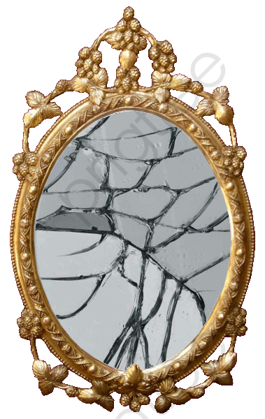 Broken Mirror, Mirror, Broken, Golden PNG Transparent Image and.