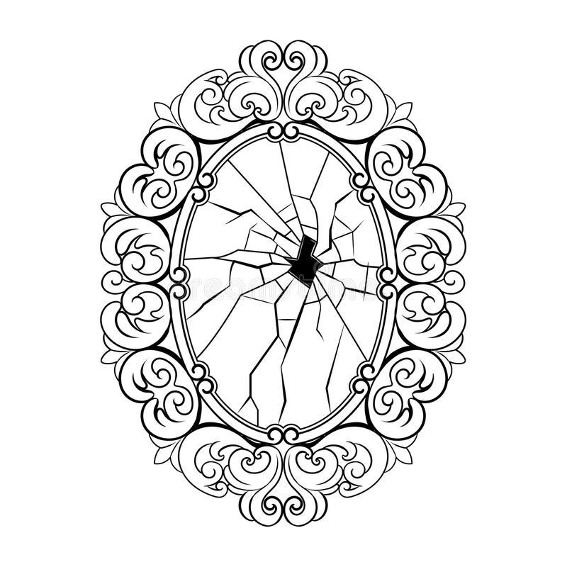Broken Mirror Stock Illustrations.