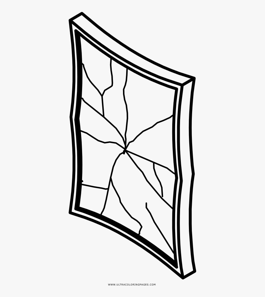 Broken Mirror Coloring Page.