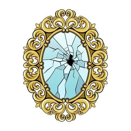 952 Broken Mirror Stock Vector Illustration And Royalty Free Broken.
