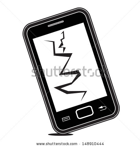 Broken Mobile Phone Stock Images, Royalty.
