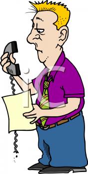 Businessman Holding a Broken Phone.