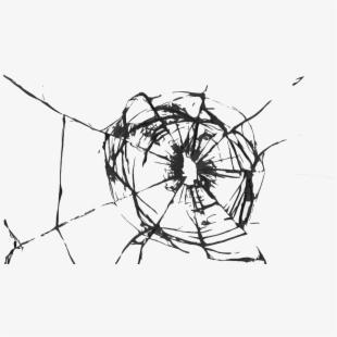 Broken Clipart Cracked Screen.