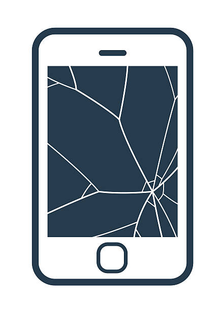 Cracked Phone Clipart.