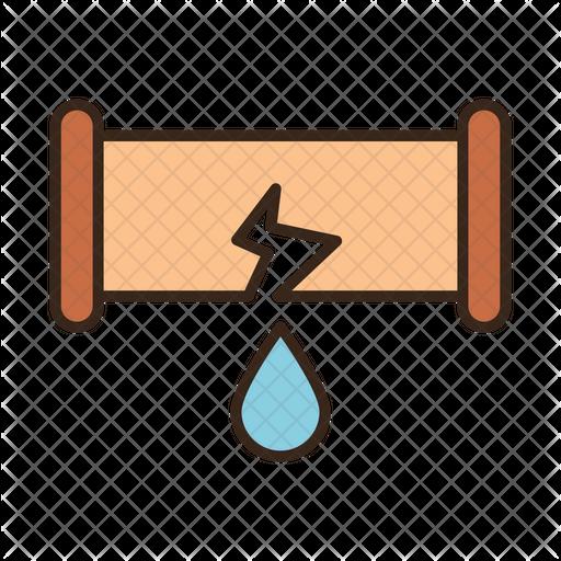 Broken pipe Icon.