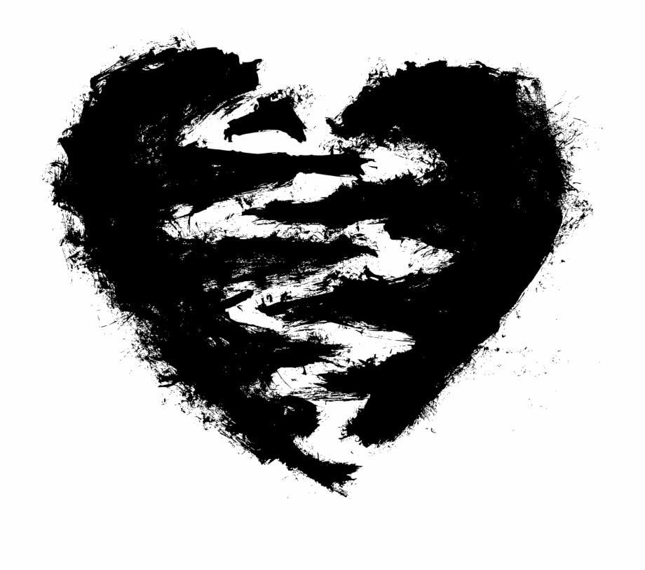 Black Heart Free Png Image.
