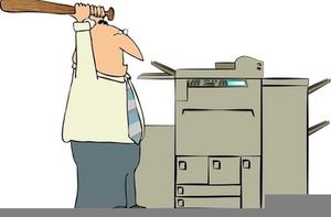 Broken Printer Clipart.