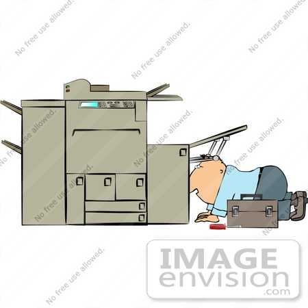 Printer Repair Clipart.