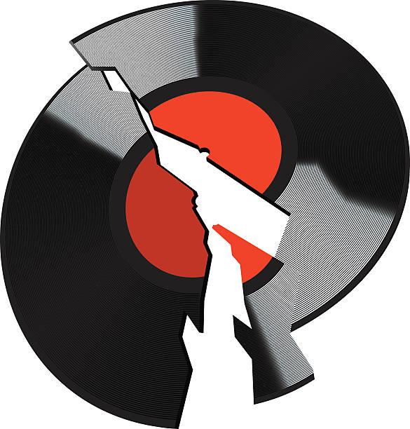 Best Broken Records Illustrations, Royalty.