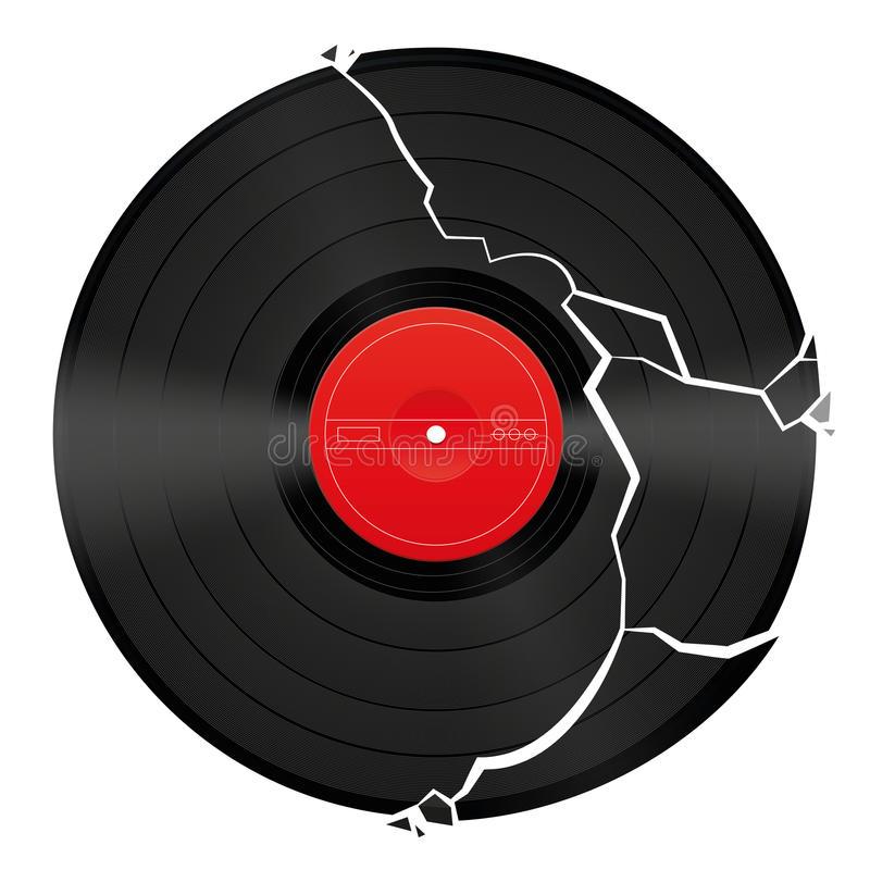 Broken Record Stock Illustrations.