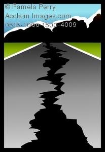 Earthquake clipart road, Earthquake road Transparent FREE.