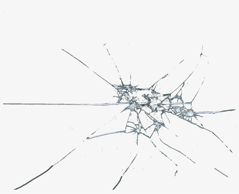 Broken Glass Shattered Cracked Window Pane.