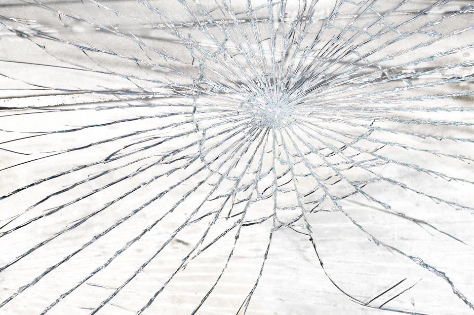 Broken Glass Shashed.