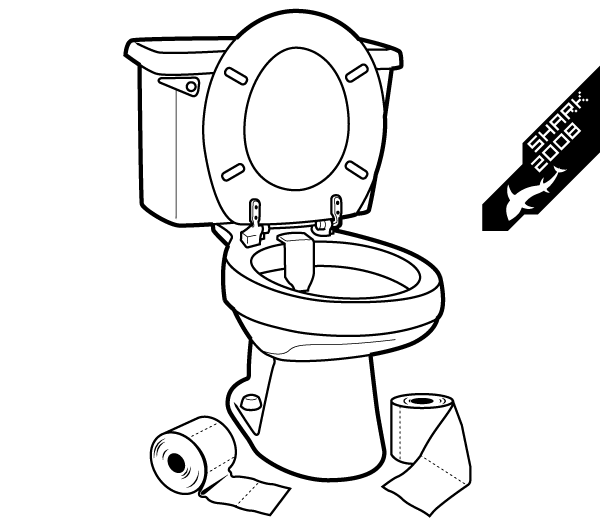 Toilet Vector Illustration.