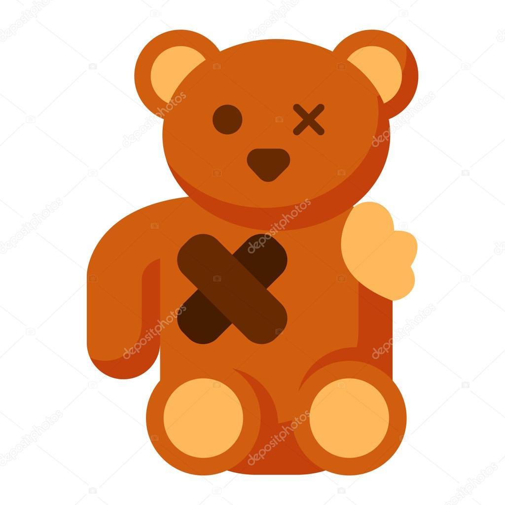 Clipart: broken arm stuffed animal.