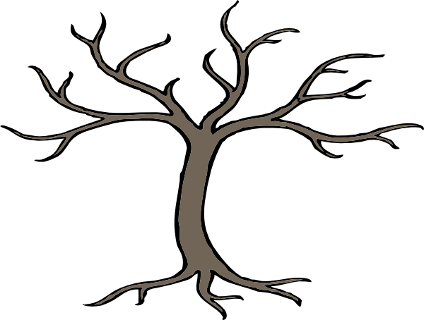 cartoon trees with branches.