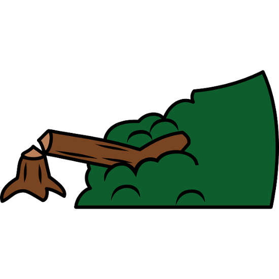Broken tree clipart.