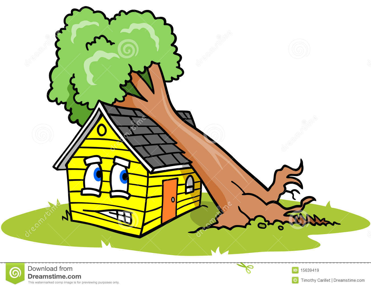 Broken House Clipart.