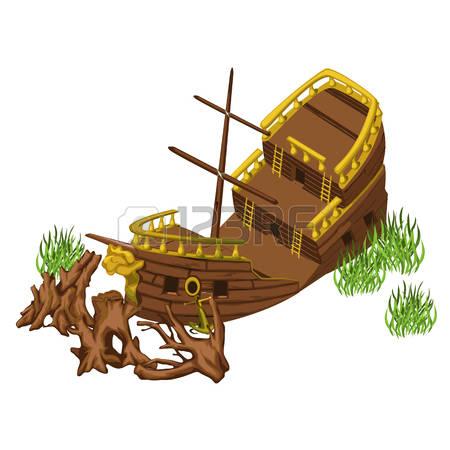 168 Broken Ship Stock Vector Illustration And Royalty Free Broken.