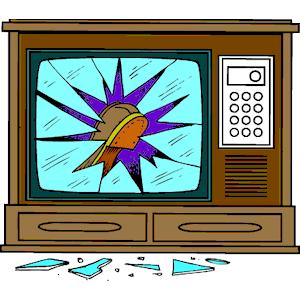 Television Broken clipart, cliparts of Television Broken.