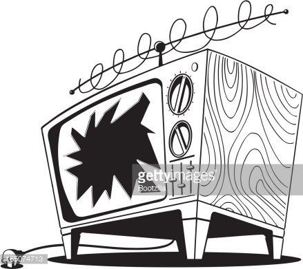 Broken TV Clipart Image.