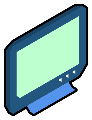 Broken TV set vector clip art.