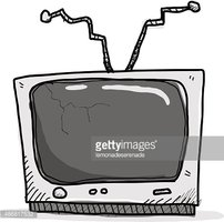 Broken TV Stock Vector.