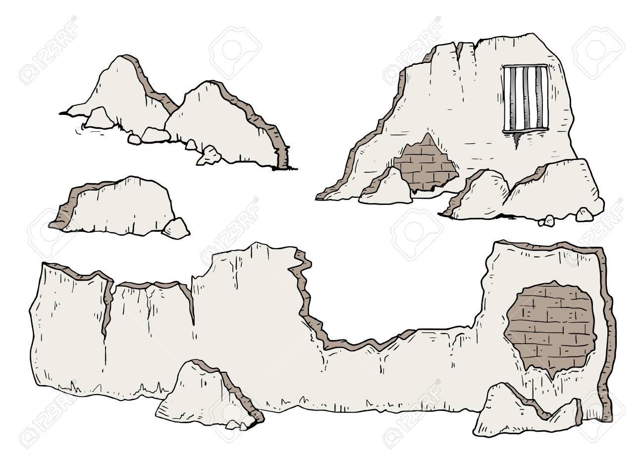 broken wall illustration.